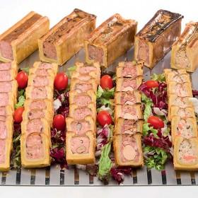 Pâtés en croûte Lunch (Apéro, Richelieu canard, deux olives, au saumon, aux noisettes)