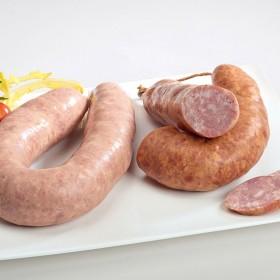 Saucisson cuit ail BN courbe (Blanc ou Fumé) 350 g (s/vide x 1)